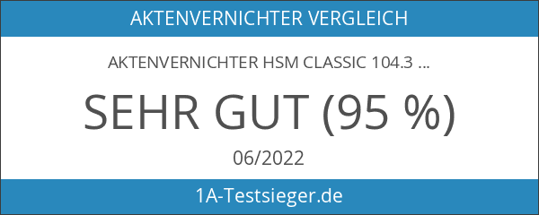 Aktenvernichter HSM Classic 104.3