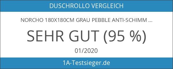 Norcho 180x180cm Grau Pebble Anti-Schimmel wasserdichter Duschvorhang mit 12 Duschvorhangringe