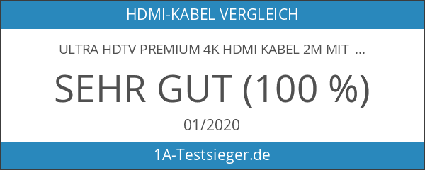 Ultra HDTV Premium 4K HDMI Kabel 2m mit 1x 90°-Winkel