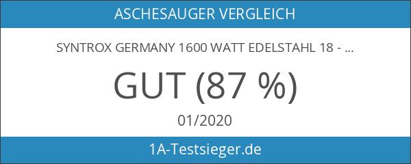 Syntrox Germany 1600 Watt Edelstahl 18 - 20 Liter Aschesauger