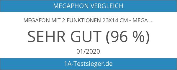 Megafon mit 2 Funktionen 23x14 cm - Megaphon mit Sirene