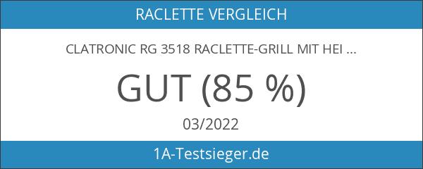 Clatronic RG 3518 Raclette-Grill mit heißem Stein zum Grillen und