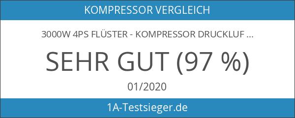 3000W 4PS Flüster - Kompressor Druckluftkompressor 65dB leise ölfrei IMPLOTEX