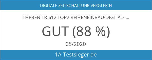 Theben TR 612 top2 Reiheneinbau-Digital-Schaltuhr 2 Kanal