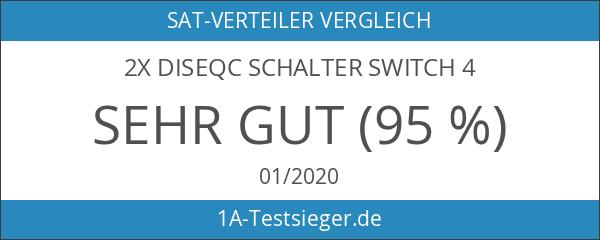 2x DiseqC Schalter Switch 4