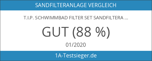 T.I.P. Schwimmbad Filter Set Sandfilteranlage SPF 250 F