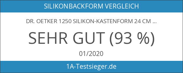 Dr. Oetker 1250 Silikon-Kastenform 24 cm Flexxibel