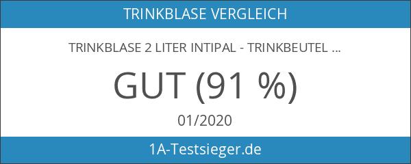 Trinkblase 2 Liter IntiPal - Trinkbeutel Wassertank Wasserbeutel für Rucksack