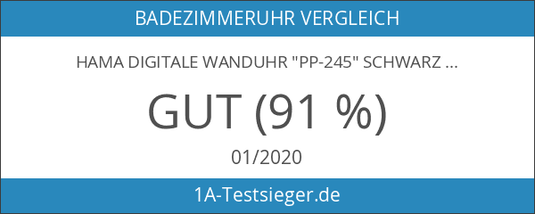 """Hama Digitale Wanduhr """"PP-245"""" schwarz"""