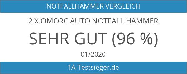 2 x OMorc Auto Notfall Hammer