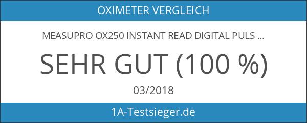MeasuPro OX250 Instant Read Digital Pulsoximeter mit Alarmzeit