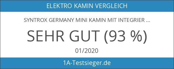 Syntrox Germany Mini Kamin mit integriertem Luftbefeuchter LPF-4