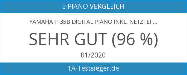 Yamaha P-35B Digital Piano inkl. Netzteil schwarz