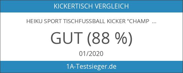 """Heiku Sport Tischfussball Kicker """"Champ Silver Goal"""""""