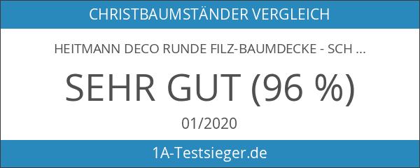 Heitmann Deco runde Filz-Baumdecke - Schutz vor Tannennadeln - Tannenbaum-Unterlage