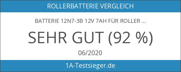 Batterie 12N7-3B 12V 7AH für Roller