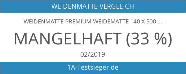 Weidenmatte Premium Weidematte 140 x 500 cm Sichtschutzmatte Weidenzaun Gartenzaun