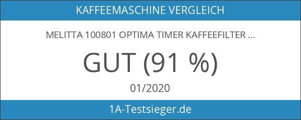 Melitta 100801 Optima Timer Kaffeefiltermaschine - weiß