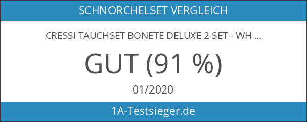 cressi Tauchset BONETE DELUXE 2-Set - White