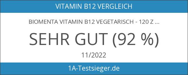 Biomenta VITAMIN B12 VEGETARISCH - 120 zuckerfreie Vitamin-Tabletten mit Vitamin