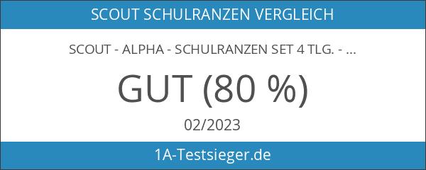 Scout - Alpha - Schulranzen Set 4 tlg. - Sweet