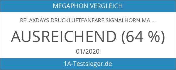 Relaxdays Druckluftfanfare Signalhorn max. 110 dB