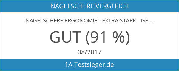 Nagelschere ERGONOMIE - Extra Stark - gebogener Schnitt - Edelstahl