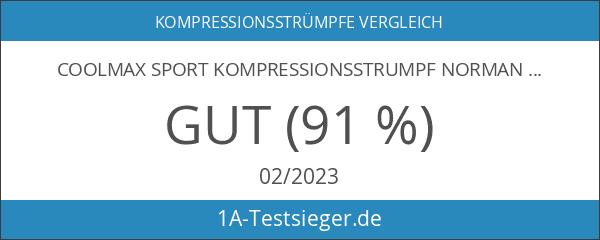 Coolmax Sport Kompressionsstrumpf normani® Competition- Kompressionsklasse Farbe Blau Größe 43