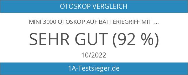 mini 3000 Otoskop auf Batteriegriff mit 4 Dauergebrauchstips