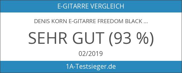 Denis Korn E-Gitarre FREEDOM Black
