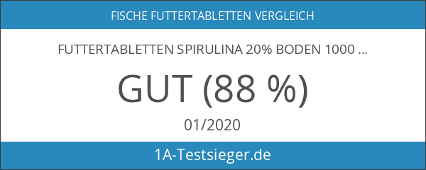 Futtertabletten Spirulina 20% Boden 1000g