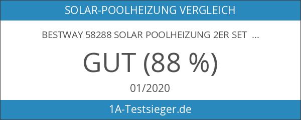 Bestway 58288 Solar Poolheizung 2er Set je 221 x 86