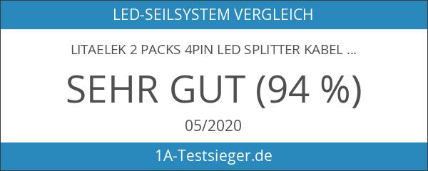 LitaElek 2 Packs 4Pin LED Splitter Kabel Y Splitter Verteiler