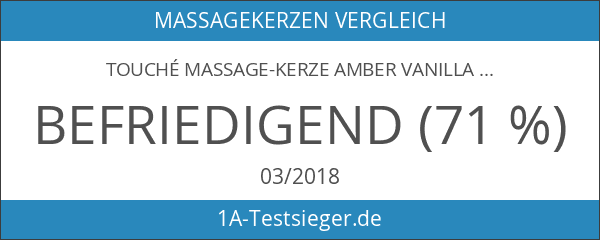 Touché Massage-Kerze Amber Vanilla
