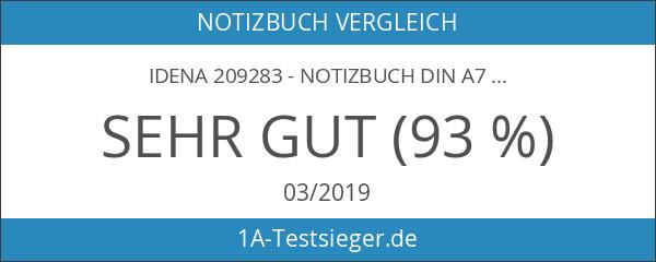 Idena 209283 - Notizbuch DIN A7
