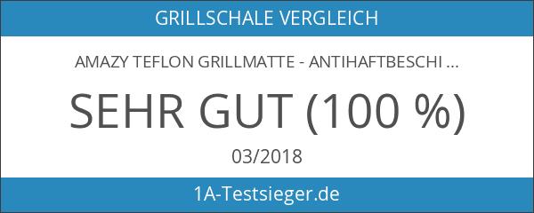 Amazy Teflon Grillmatte - Antihaftbeschichtete Silikonmatte für den Grill und