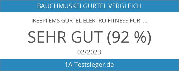 Ikeepi EMS Gürtel Elektro Fitness für Bauchmuskulatur