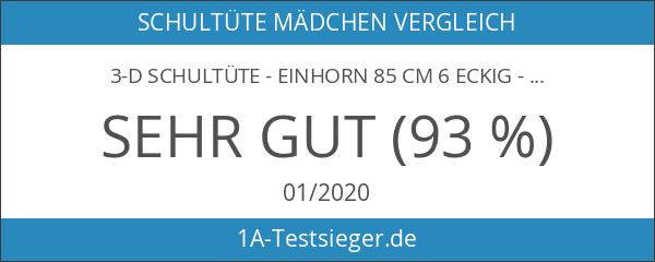 3-D Schultüte - Einhorn 85 cm 6 eckig - mit
