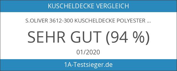 s.Oliver 3612-300 Kuscheldecke Polyester