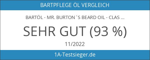 Mr. Burtons Bartöl CLASSIC - unverwechselbarer Duft - 50ml Bart