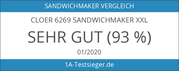 Cloer 6269 Sandwichmaker XXL