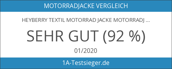 Heyberry Textil Motorrad Jacke Motorradjacke Schwarz Grau Gr. L