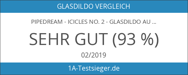Pipedream - Icicles No. 2 - Glasdildo aus 9 größer