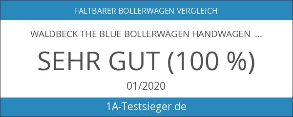 Waldbeck The Blue Bollerwagen Handwagen Transportwagen Einkaufswagen blau