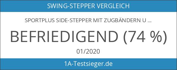 SportPlus Side-Stepper mit Zugbändern und Trainingscomputer • Benutzergewicht bis 100kg