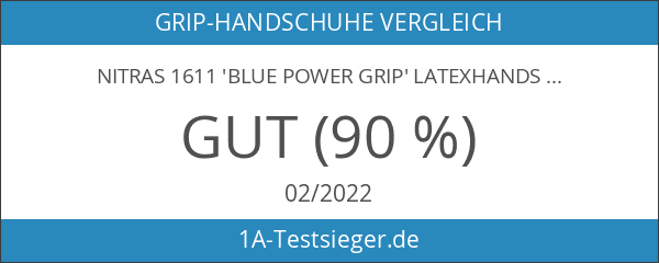 Nitras 1611 'Blue Power Grip' Latexhandschuh