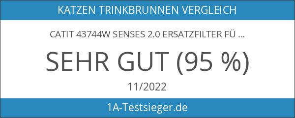 catit 43744W Senses 2.0 Ersatzfilter für Blumentrinkbrunnen