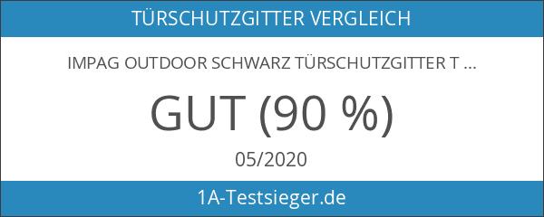 Impag Outdoor Schwarz Türschutzgitter Treppenschutzgitter Absperrgitter von 88 - 140