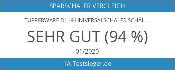 TUPPERWARE D119 Universalschäler Schäler rot Sparschäler Spargel