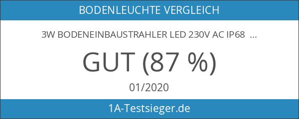 3W Bodeneinbaustrahler Led 230V AC IP68 270Lumen Für Aussen